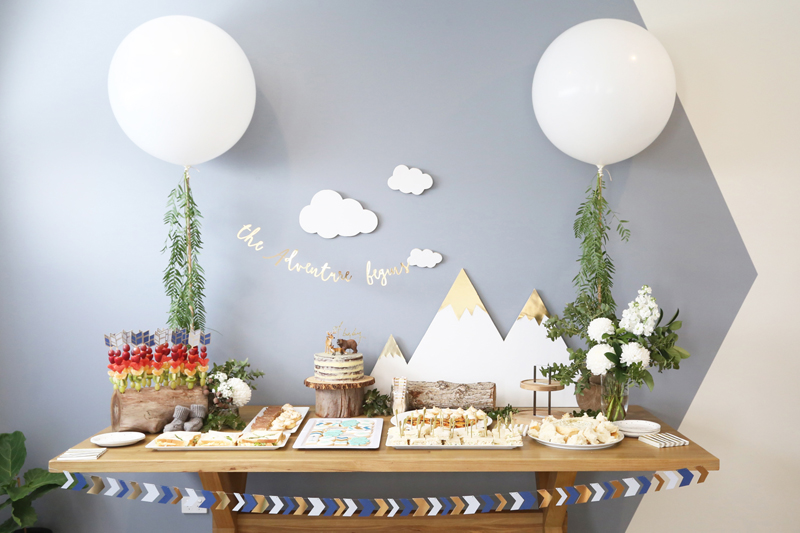 An Adventure Themed Baby Shower Hooray Mag