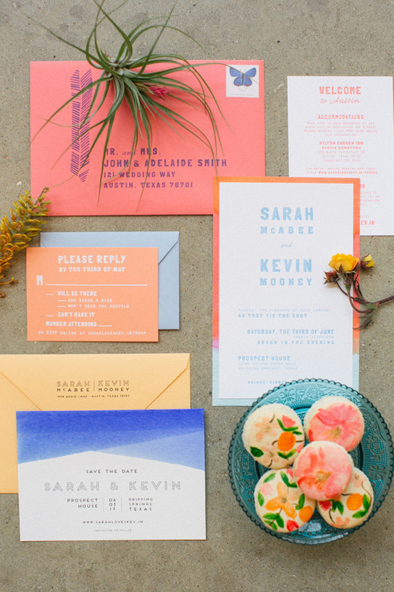HOORAY_Playful-Bright-Stationery_11 - 100layercakecom_wedding-ideas_invitations_183032_coral-wedding-invitations